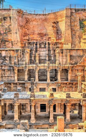 Rani ki vav, an intricately constructed stepwell in Patan. A UNESCO world heritage site in Gujarat, India poster