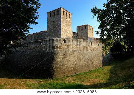 towers of Baba Vida medieval fortress in Vidin, Bulgaria