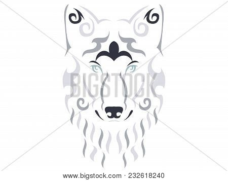 Tribal Wolf Illustration, Wolf In Tribal Style, Ornamental Wolf Illustration, Animal Tattoo