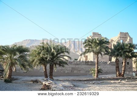 Part Of The Temple In The City Of The Dead In Egypt