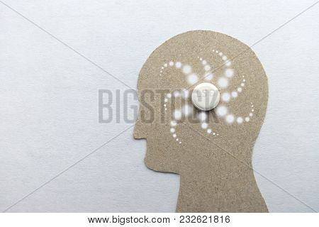 Lsd Trip Psychedelic Image Of A Man From A Cardboard Pattern Of The Light Spots Of White Background