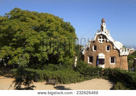 The Park Guell Is A Public Park System Composed Of Gardens And Architectonic Elements Located On Car