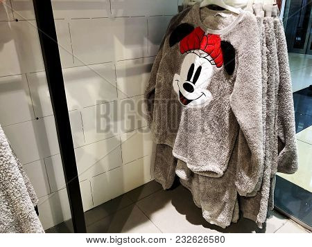 Rishon Le Zion, Israel- December 29, 2017: Modern Clothes In A Shop On A Hanger In The Shopping Cent
