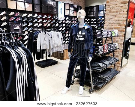 Rishon Le Zion, Israel- December 17, 2017: Modern Clothes In A Shop On A Hanger In The Shopping Cent