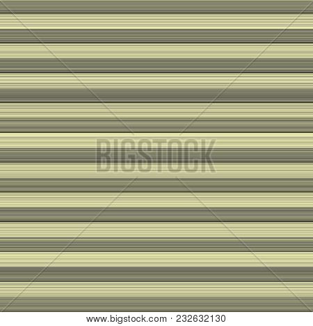 Background Of Yellow And Gray Stripes Of Varying Widths. Muted Light Colors Recede For An Illusion O