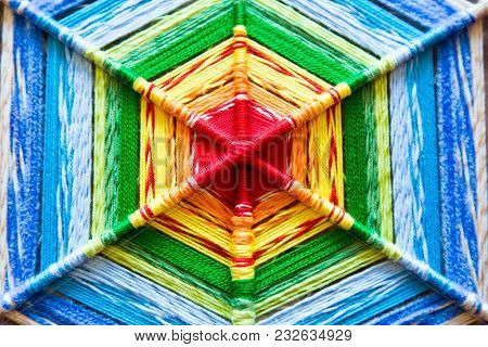 Background Of A Wicker Bright Mandala, Color