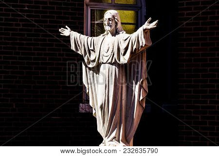 Statue Of Jesus With A Sacred Heart I