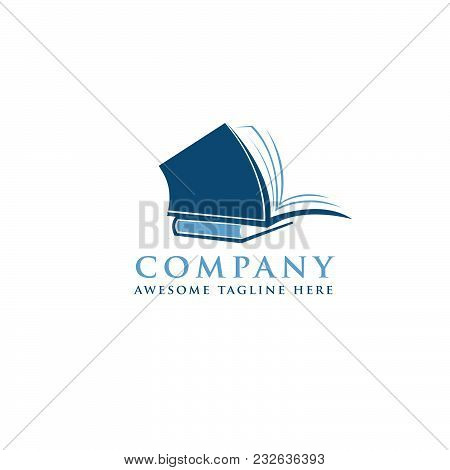 Creative Open Book Logo Vector, Book Color Logo, School Books, Education Books