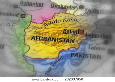 Afghanistan, Officially The Islamic Republic Of Afghanistan (black And White Selective Focus).