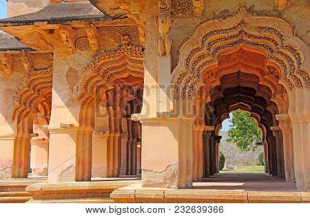 Lotus Temple Hampi. Beautiful Hindu Temple. An Old Archway At Hampi, India