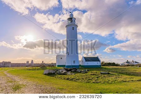 Scenery At Hurst Point Lighthouse In Hampshire, Uk