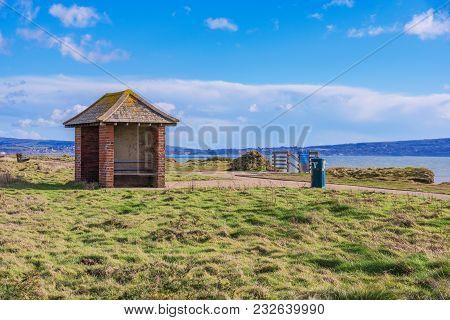 Hillside View Of Barton On Sea, Hampshire, Uk