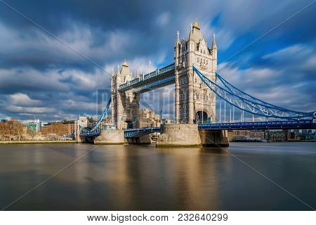 Tower Bridge View Long Exposure Hdr Image