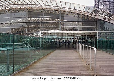Leuven, Belgium - September 04, 2014: Modern Building Of The Leuven Railway Station. Is The Main Rai