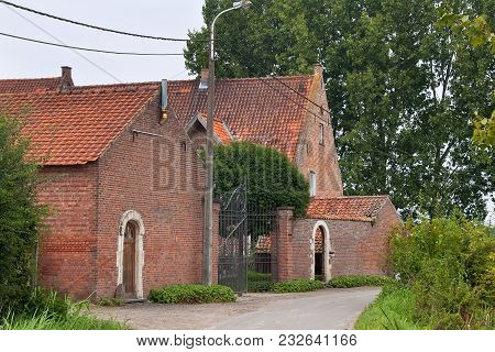 Old Red Brick Building In The European Province