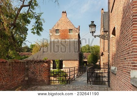 Old Historic Buildings In Groot Begijnhof Of Leuven. Is A Well Preserved Beguinage And Completely Re