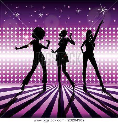 Disco girls vector