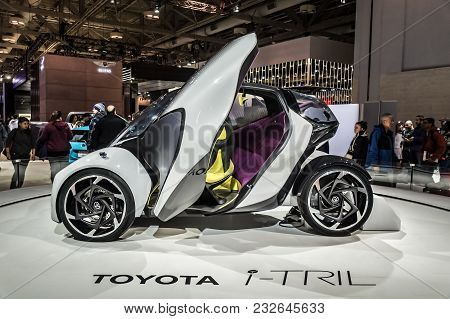 Toronto, Canada - 2018-02-19 : Toyota I-tril Concept Displayed On The Toyota Motor Corporation Expos