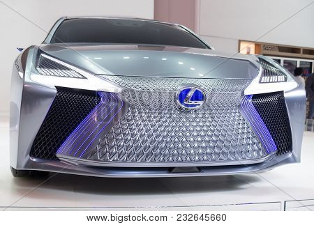 Toronto, Canada - 2018-02-19 : Front View Of The Lexus Ls Concept, Which Was Displayed On The Lexus