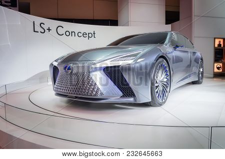 Toronto, Canada - 2018-02-19 : Lexus Ls Concept Displayed On The Lexus Brand Exposition On 2018 Cana