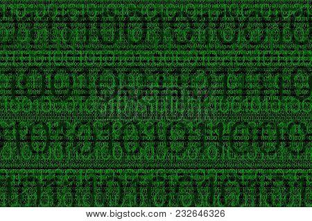 Digital Binar Green 01 Code Pattern Can Be Background