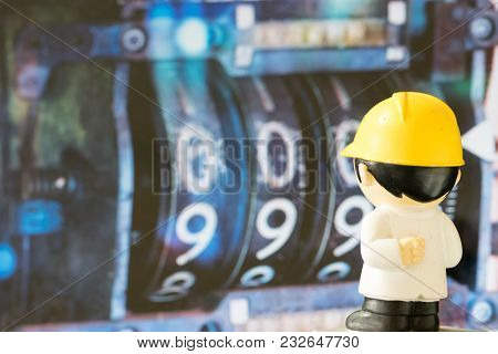 The Cartoon Characters Look At The Numbers On The Screen.