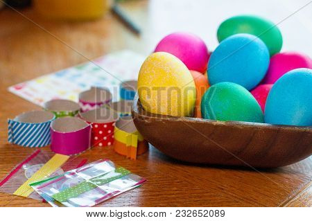 Easter Egg Coloring A Decorating For Holiday Season Eggs And Decorations