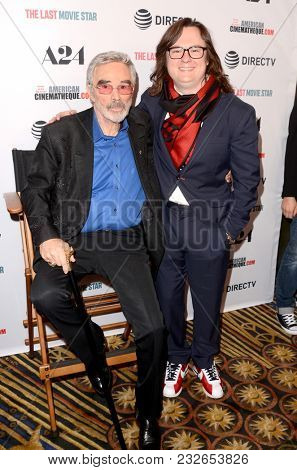 LOS ANGELES - FEB 22:  Burt Reynolds, Clark Duke at the