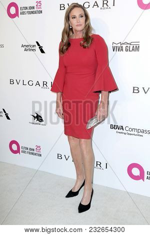 LOS ANGELES - MAR 4:  Caitlyn Jenner at the 2018 Elton John AIDS Foundation Oscar Viewing Party at the West Hollywood Park on March 4, 2018 in West Hollywood, CA