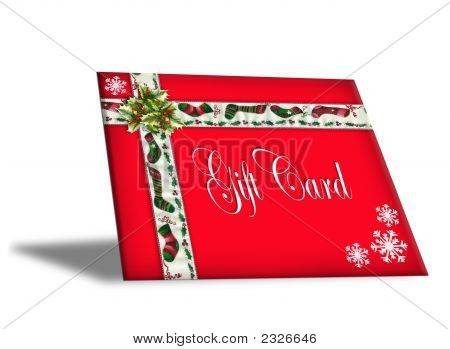 3D Christmas Gift Card With Text