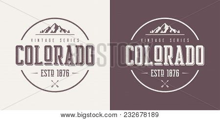Colorado State Textured Vintage Vector T-shirt And Apparel Design, Typography, Print, Logo, Poster.