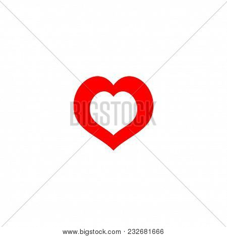 Heart Icon Isolated On Image Photo Free Trial Bigstock