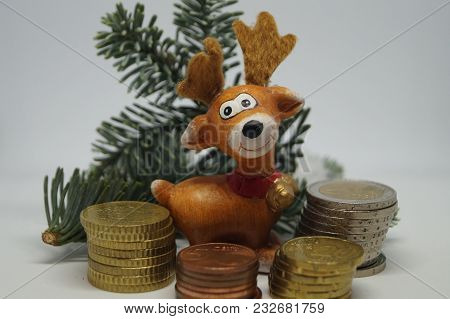 Christmas Money - The 13.th Salary - Christmas Time - Commerce Time. Some Companies Pay Off The 13.t