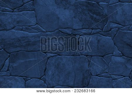 Tile Imitation Of Natural Stone - Texture (background). Toning In Pantone Color Navy Peony.