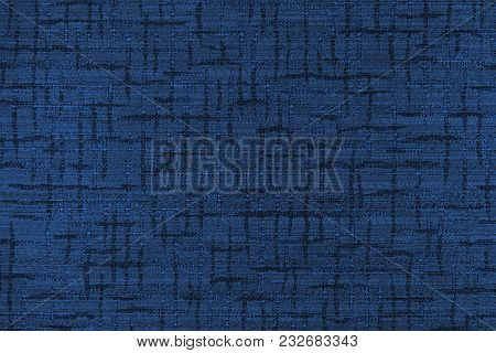 Fabric Background With Abstract  Patterns. Close-up. Toning In Pantone Color Navy Peony.