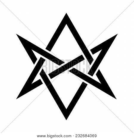 «hexagrammum Mysticum» (unicursal Hexagram) -- The Horns Of Asmodeus, Or The Horned Head (symbol Of