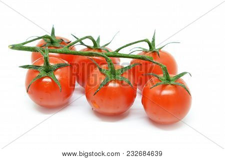 Red Cherry Tomato Isolated On White Background
