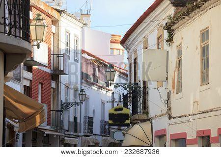 Mediterranean Old Town Architecture. Vintage Style Photo