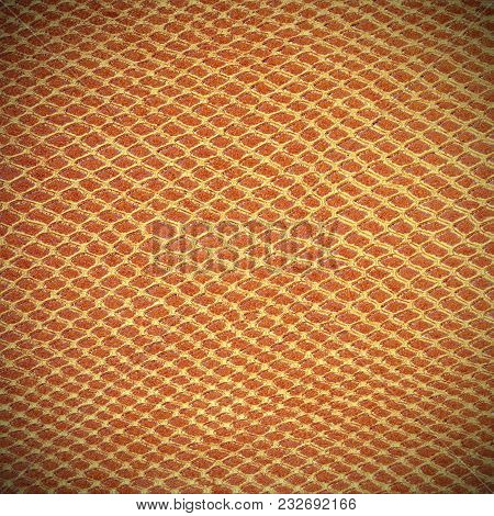 Large Golden Background Of Scales Similar To Snakeskin With Rhomboid Shapes