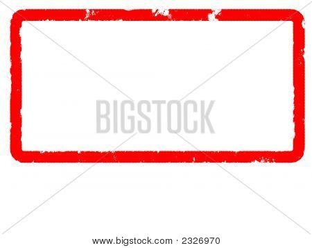 Red Grunge Border