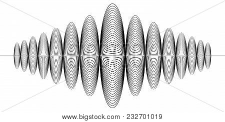Sign Amplitude Of Audio Digital Record, Music Radio Sound Wave, Vector Sign Of Seismology Earthquake