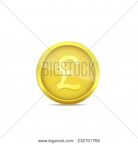 Pound Sterling Coin. The Official Currency Of The United Kingdom