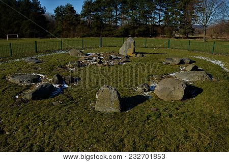 A View Of The Neolithic Stone Circle In Dundee