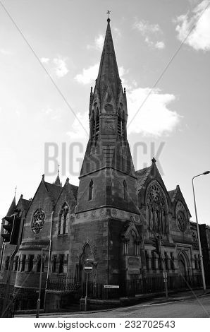 A Towering Gothic Style Spired Building In The City Of Dundee