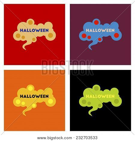 Assembly Of Flat Icons Halloween Mystery Sign