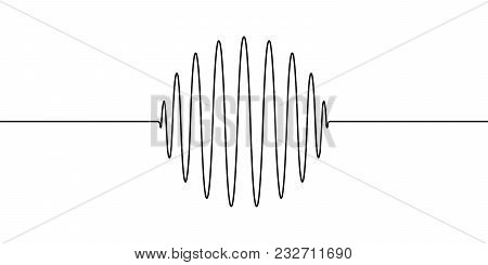 Wave Shape Amplitude Of The Round Ring, Sphere, Vector To Draw One Line Of The Wave, The Concept Of