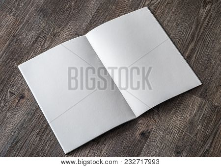 Book Mockup With Blank Opening Page A4 Paperback Mock Up For Catalog, Magazine, Menu, Booklet, Noteb