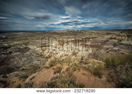 Badlands Around Angel Peak In New Mexico. The Angel Peak Scenic Area Is A Recreation Area Located Ne