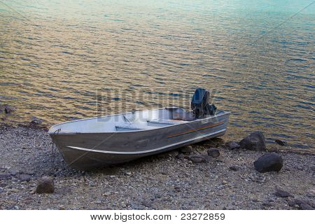 Boat resting on Shore