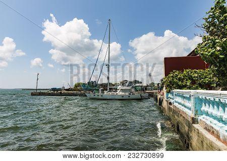 Cienfuegos, Cuba - March 11, 2018 Muelle Real Pier In Cienfuegos, Cuba